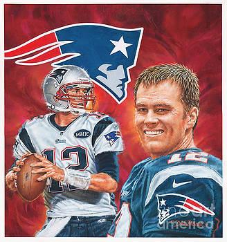 Tom Brady - Quarterback by Dick Bobnick