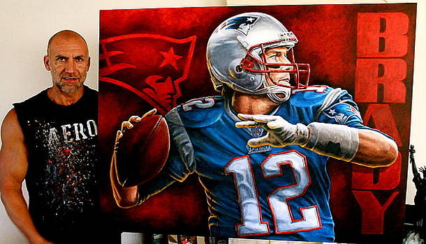 FOR SALE Tom Brady L E Canvas Giclee Prints 40 x 30 inches  by Sports Art World Wide John Prince