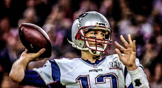 Tom Brady - Touchdown by Glenn Feron