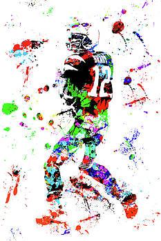 Tom Brady Watercolor Art by Joann Vitali