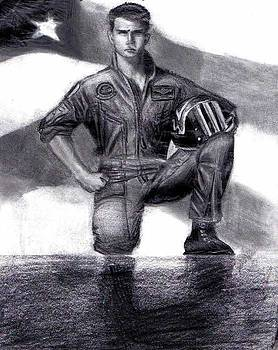Tom Cruise Top Gun by Katie Alfonsi