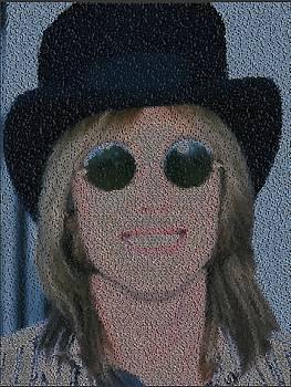 Tom Petty Song List Mosaic by Paul Van Scott