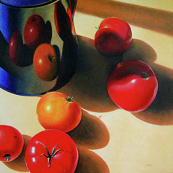 Tomatoes and Coffee Pot by Timothy Jones