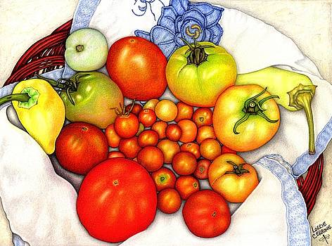 Tomatoes in a Basket by Lorrie Cerrone