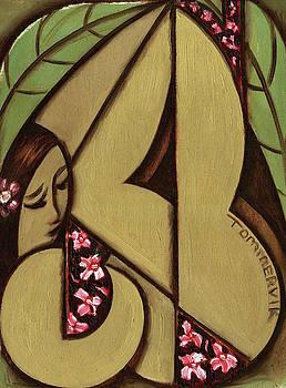 Tommervik Abstract Hawaiian Woman Art Print  by Tommervik