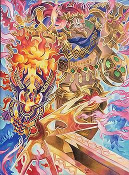 Tonatiuh - Ruler of Tollan , The Fifth Sun by George Zhang