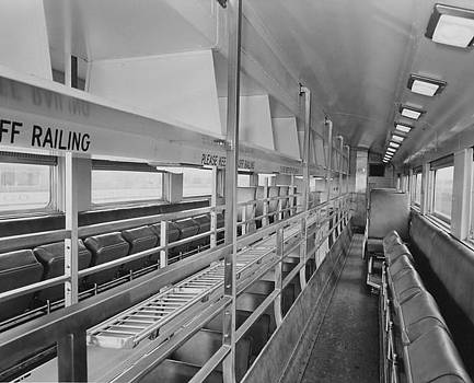 Chicago and North Western Historical Society - Top Floor of Bilevel Car - 1959