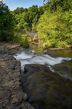 Top of the Big Falls, Burgess Falls State Park by Christopher L Nelson