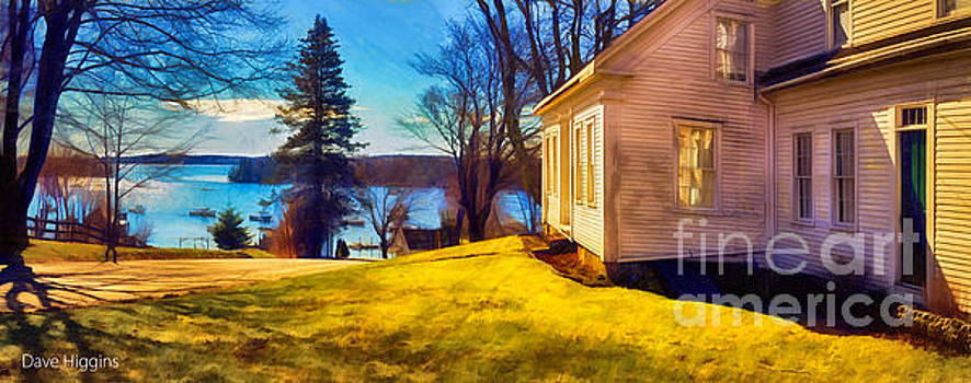 Top of the Hill, Friendship, Maine by Dave Higgins