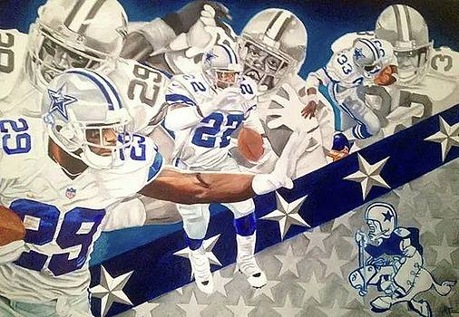 Top Rushers Dallas Cowboys by Jason Turner