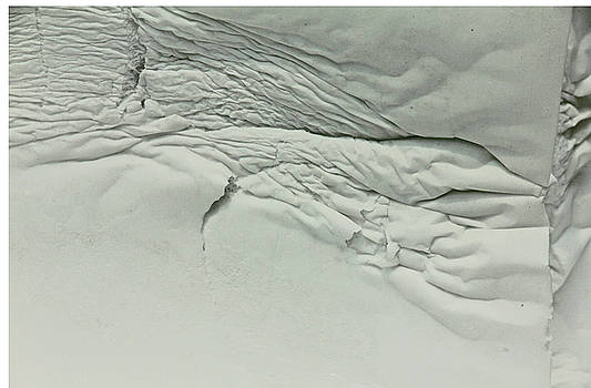 Topographical off color Grays Black and white ocean floor mountain ridge 2 8282017   by David Frederick