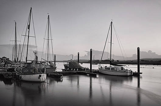 Topsham boats at dusk by  P Hemington