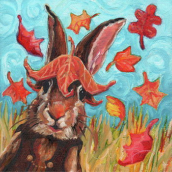 Topsy Turvy Fall Rabbit by Kristy Tracy
