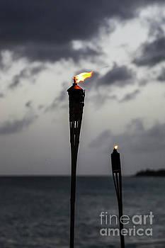Torch on beach by Miro Vrlik