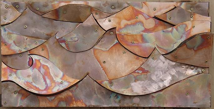 Torched Copper Waves by Harry Spitz