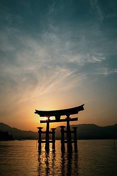 Torii Gate at Sunset by Matt Perry