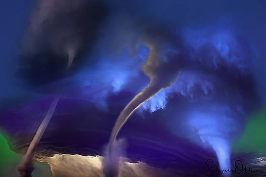 Steve Ohlsen - Tornado Storm 2 - Collage - Signed Limited Edition