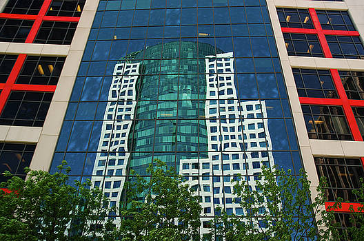Reimar Gaertner - Toronto Metro Hall reflected in the CBC building