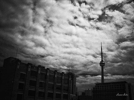Toronto Morning Black and White by Marko Mitic