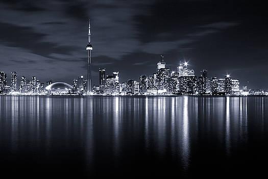 Toronto Skyline Monochrome by Matt  Trimble