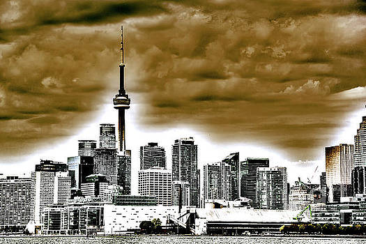 Toronto Surrealistic in Brown by Linda Joyce