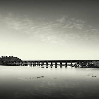 Torrey Pines Lagoon Train Bridge by William Dunigan