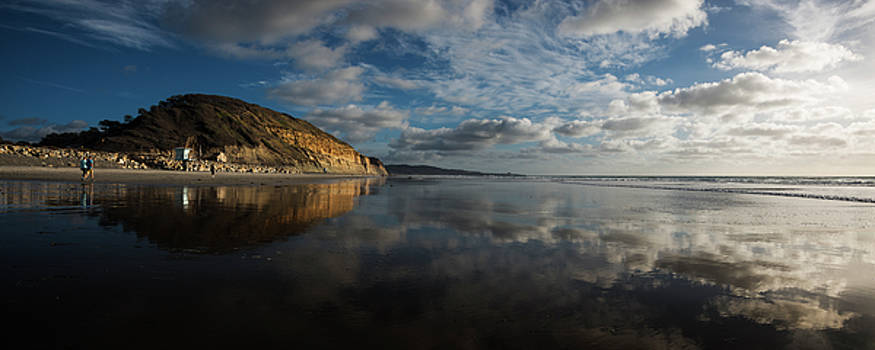 Torrey Pines Panorama Reflection by William Dunigan