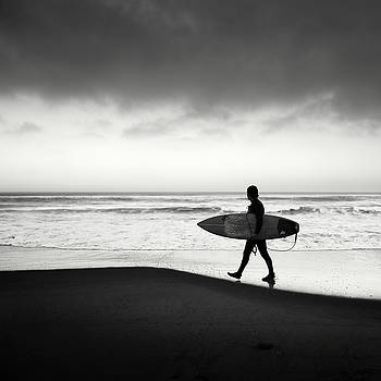 Torrey Pines Surfer by William Dunigan