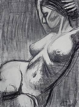 Torso 6 - female Nude  by Carmen Tyrrell