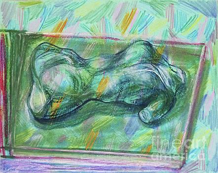 Torso in green by Elena Fattakova