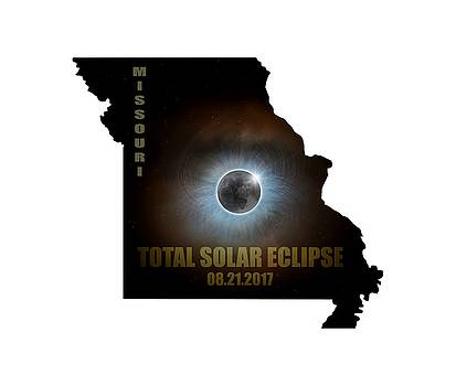Total Solar Eclipse in Missouri Map Outline by David Gn