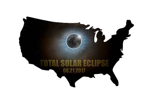 Total Solar Eclipse in United States Map Outline by David Gn