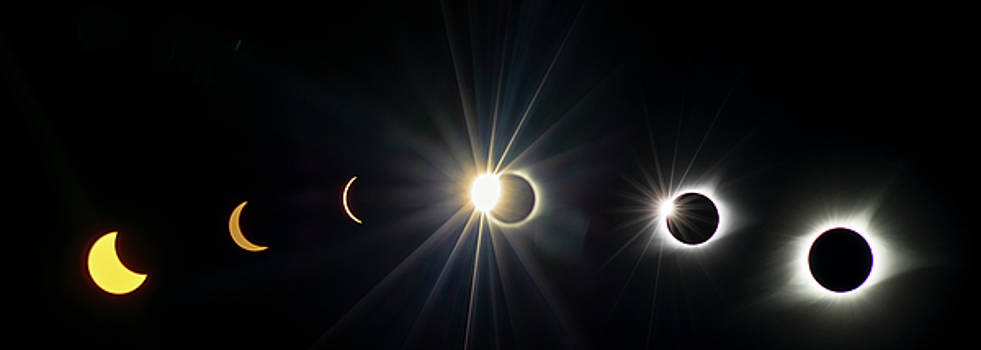 Total Solar Eclipse Sequence by Rima Biswas