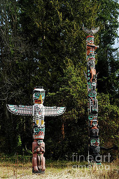 Totem Poles in Stanley Park, Vancouver BC by Natural Focal Point Photography