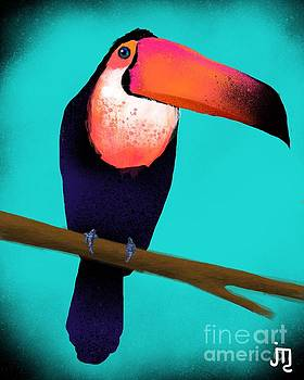 Toucan With Turquoise Sunset by J Travis Duncan