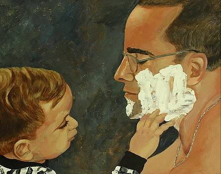 Touching Father and Son Moment by Kimberly Miller
