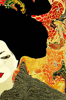 Toulous Lautrec Style Japanese Geisha by Suzanne Powers