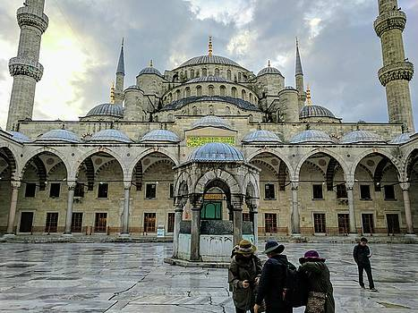 Tourists and the Blue Mosque by Ty Agha
