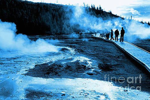 Geyser Walking by Thomas Levine