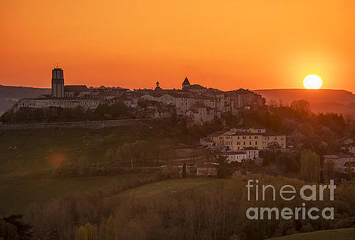 Tournon Sunset by Tony Priestley