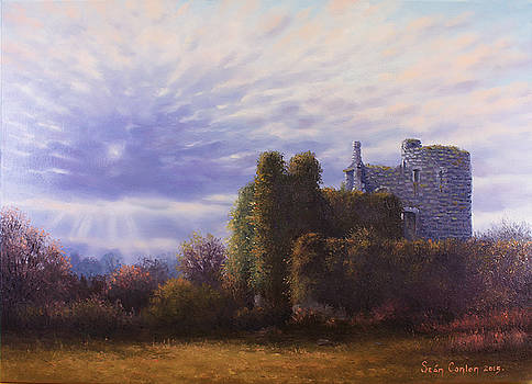 Towards Evening Lea Castle by Sean Conlon