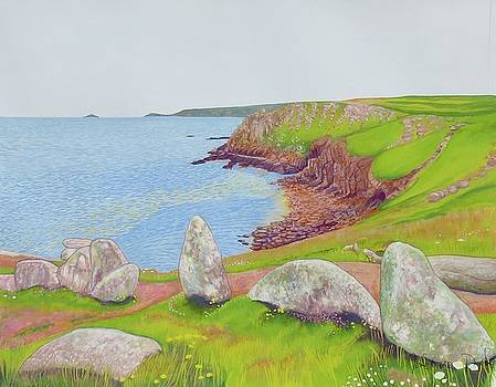 Towards Sennen From Lands End by Janet Darley
