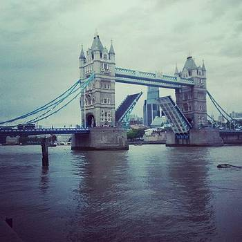Tower Bridge In Action  by Candy Mccreery