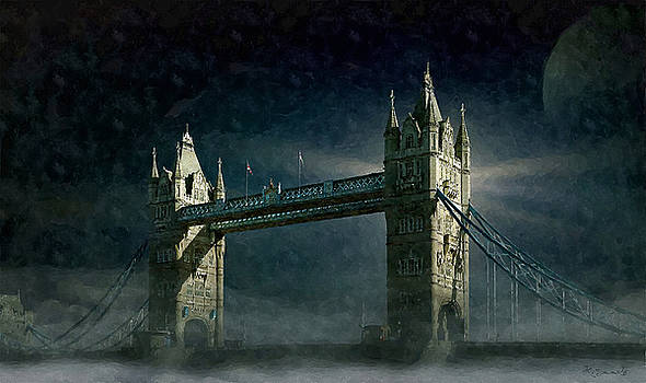Tower Bridge in Moonlight by Kai Saarto
