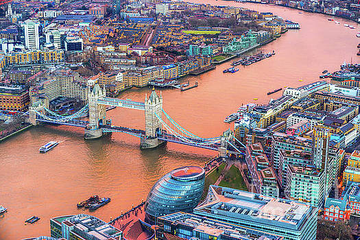Tower Bridge - view from the Shard - London - UK by Luciano Mortula
