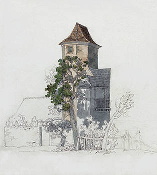 Friedrich Salathe - Tower of a Fortified House