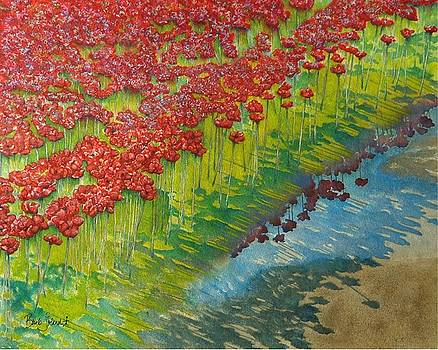 Poppies and Puddles - Tower of London by Barb Toland