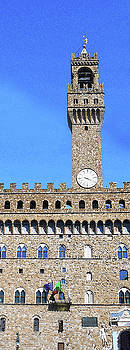 Tower Of Palazzo Vecchio by Irina Sztukowski