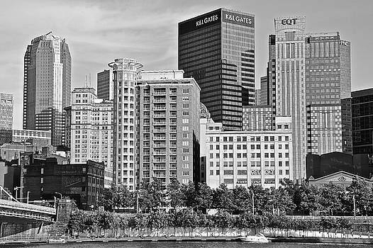 Tower over Pittsburgh in Black and White by Frozen in Time Fine Art Photography