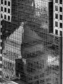 Mel Steinhauer - Tower Reflections bw